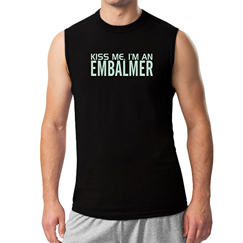 392526a4f9 Idakoos – KISS ME, I AM a Embalmer – Occupations – Sleeveless T-Shirt